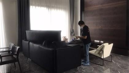 上海市青浦区绿地国际山庄室内除甲醛-家庭客户除甲醛案例