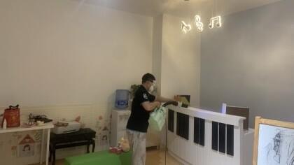 上海市浦东新区富灵时代钢琴教室室内除甲醛-教育培训除甲醛案例