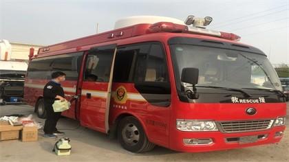 北京市朝阳区消防车车内除甲醛-汽车除甲醛案例